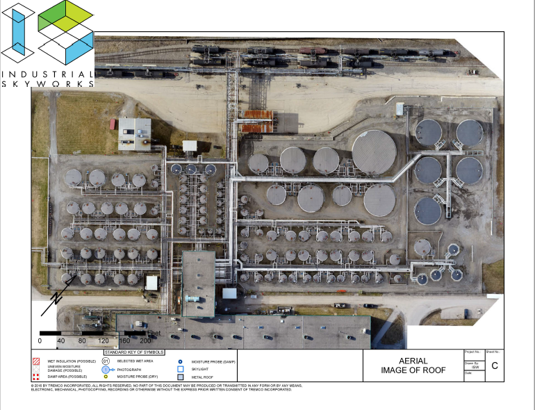 Drone Inspection of Storage Tank Farm