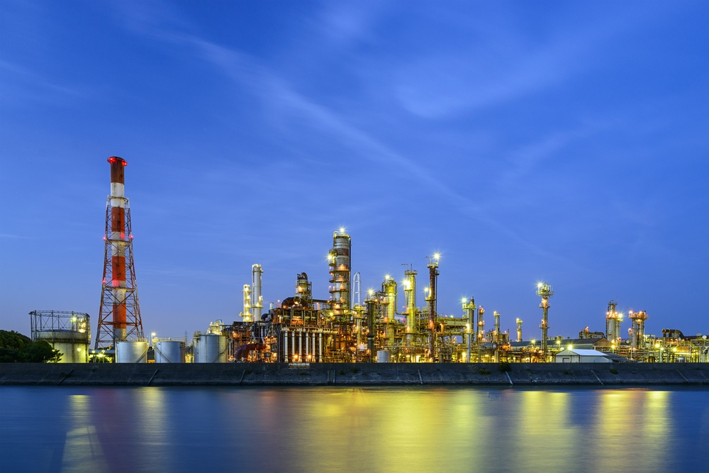 Oil refineries line a river in Yokkaichi, Japan. The city has been a center for the chemical industry since the 1930's.-1.jpeg